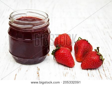 Strawberry Jam And Fresh Strawberries