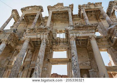 Celsus Library in Ephesus ancient city, Selcuk, Turkey.