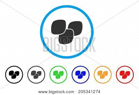 Medical Tablets rounded icon. Style is a flat medical tablets grey symbol inside light blue circle with black, gray, green, blue, red, orange variants. Vector designed for web and software interfaces.