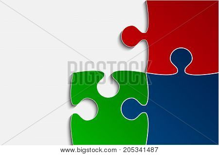 three rgb piece flat vector photo free trial bigstock