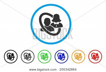 Marriage Circle rounded icon. Style is a flat marriage circle grey symbol inside light blue circle with black, gray, green, blue, red, orange color versions.