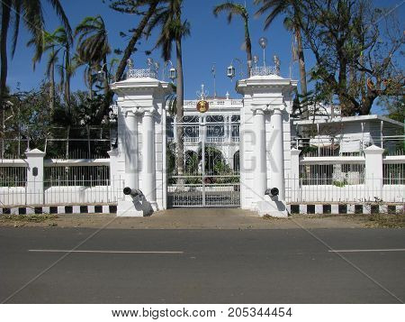 Governor House in Pondicherry. India. (French India).