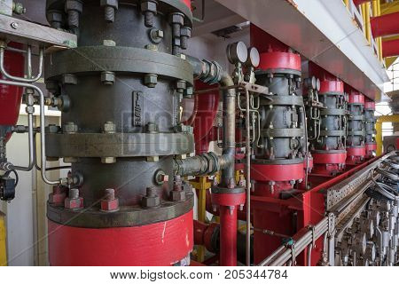 Deludge system of fire fighting system foe emergency of fire case in oil and gas field