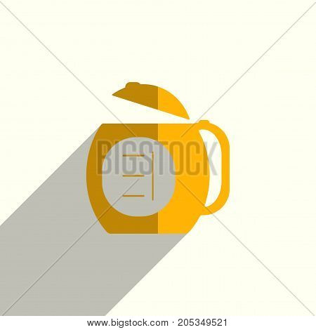 Kettle flat icons with of shadow. Simple vector illustration