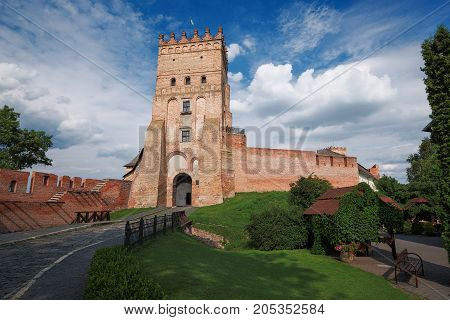 Ancient Castle in Eastern Europe in the Ukrainian city of Lutsk