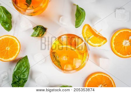 Summer Drink With Orange And Basil