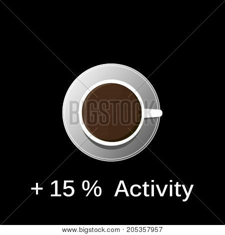 invigorating natural black coffee for increased activity during working hours top view