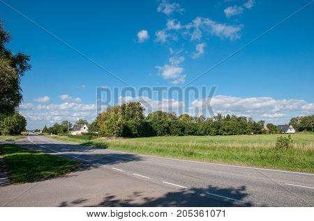 Town Of Koeng Near Vordingborg In Denmark