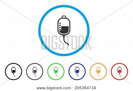 Treatment Dropper rounded icon. Style is a flat treatment dropper grey symbol inside light blue circle with black, gray, green, blue, red, orange color versions.