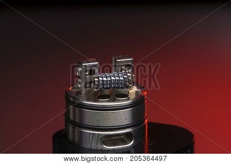 Staple Staggered Fused Clapton Coil Red Background