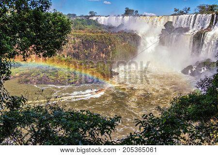 Iguazu Falls Boat Approaches