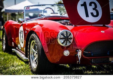 Ford Shelby AC Cobra convertible roadster at Summer Thunder 2015 in Purcellville Virginia