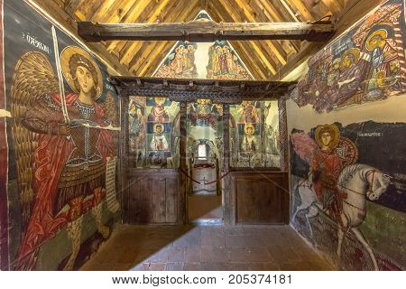 Historic Icon Paintings In Interior Of Church Of Archangel Michael