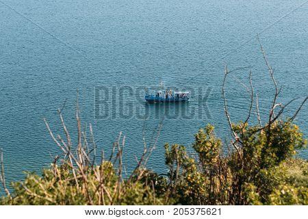 Lake Sevan, Armenia. horizontal shot in the afternoon