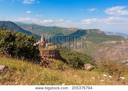Tatev Monastery, Armenia. horizontal shot in the afternoon