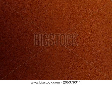 Background Pattern Close Up of Dark Brown Cork Board Texture with Copy Space for Text Decorated.