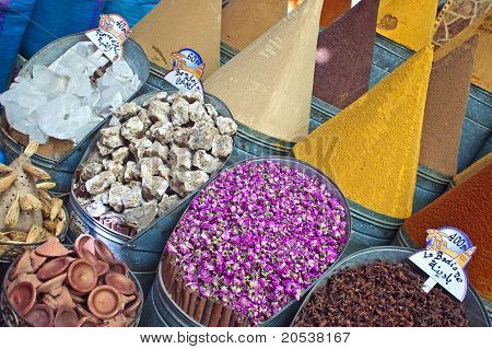 Spices at marketplace