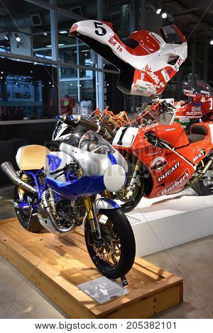 LEEDS, ALABAMA - JUL 24: Barber Vintage Motorsports Museum in Leeds, Alabama, as seen on July 24, 2017. The museum has over 1,450 vintage and modern motorcycles and racing cars.