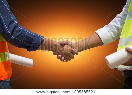 Business partnership meeting concept, Image businessman handshake, Successful businessmen handshaking after good deal