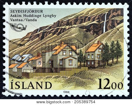 ICELAND - CIRCA 1986: A stamp printed in Iceland from the