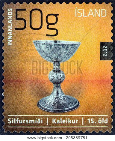 ICELAND - CIRCA 2012: A stamp printed in Iceland from the