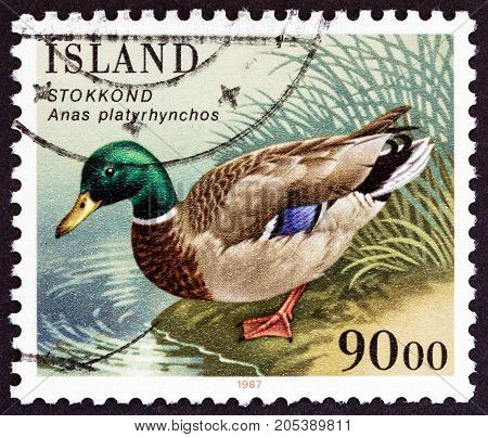 ICELAND - CIRCA 1987: A stamp printed in Iceland from the