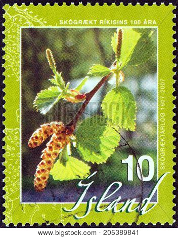 ICELAND - CIRCA 2007: A stamp printed in Iceland from the