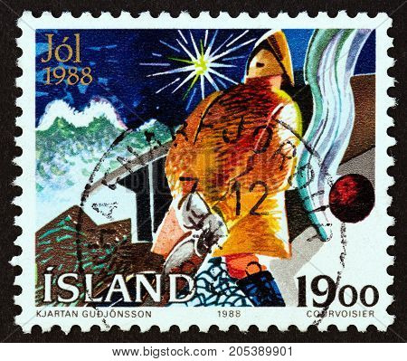 ICELAND - CIRCA 1988: A stamp printed in Iceland from the