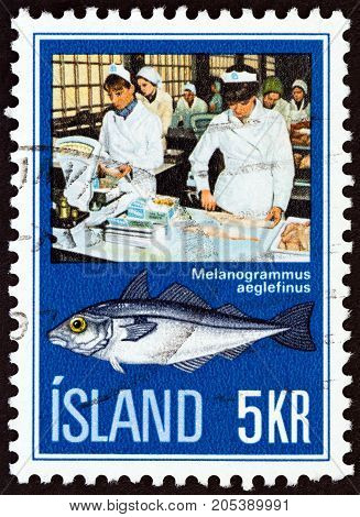 ICELAND - CIRCA 1971: A stamp printed in Iceland from the