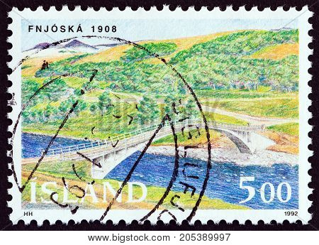 ICELAND - CIRCA 1992: A stamp printed in Iceland from the