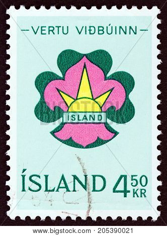 ICELAND - CIRCA 1964: A stamp printed in Iceland from the