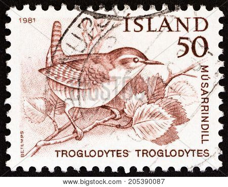 ICELAND - CIRCA 1981: A stamp printed in Iceland from the