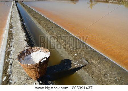 Salt evaporation ponds also called salterns salt works or salt pans