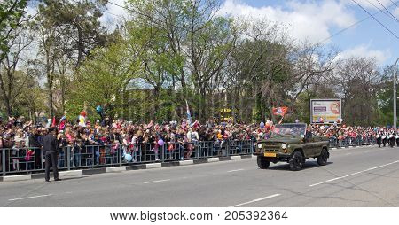 NOVOROSSIYSK, RUSSIA- MAY 9, 2015:The Celebration Of Victory Day On May 9