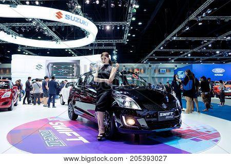 Bangkok Motor show Thailand - April 062017 : SUZUKI motor show booth.