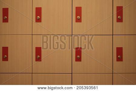Locker room. Close up of locker. Background and texture of locker room.