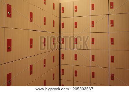 Locker room. Background and texture of locker room.