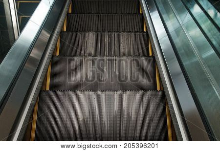 escalator steps. Background and texture of escalator.