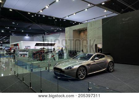 Bangkok Motor show Thailand Muang Thong Thani - March 302017 : Aston martin motor show booth.