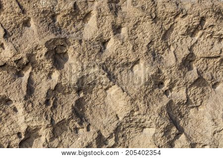 Brown Clay Earthen Wall Texture Background
