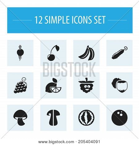 Set Of 12 Editable Cookware Icons. Includes Symbols Such As Morello, Cep, Lime And More