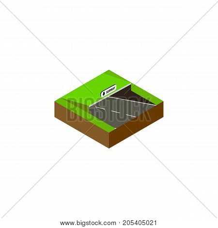 Underground Vector Element Can Be Used For Underground, Subway, Road Design Concept.  Isolated Subway Isometric.