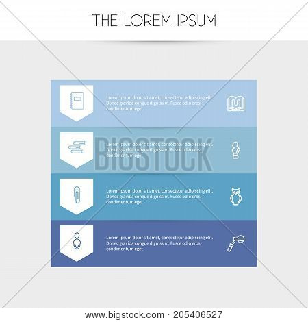 Set Of 8 Editable Science Outline Icons. Includes Symbols Such As Stand , Classbook , Bust