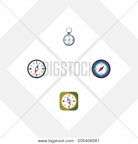 Flat Icon Direction Set Of Compass, Direction, Orientation And Other Vector Objects