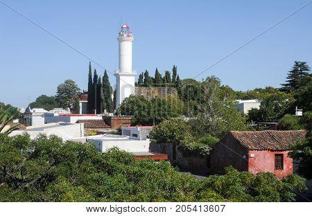 Colonia del Sacramento Uruguay - 13 february 2011: Colonial town of Colonia del Sacramento in Uruguay