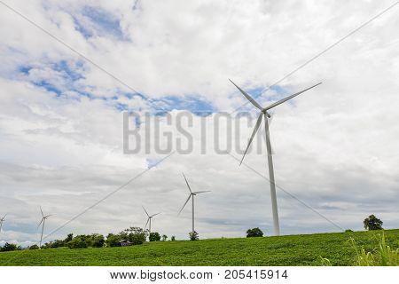 Wind turbine in the glass field - Clean Energy genesis