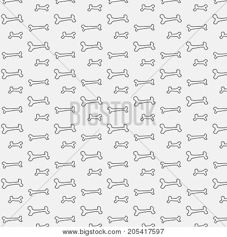 Bone Pattern For Dog. Cute ector illustration.