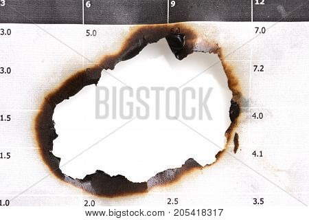 background of burnt paper . Photo of an abstract texture