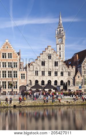 Old Houses In Ghent, Belgium