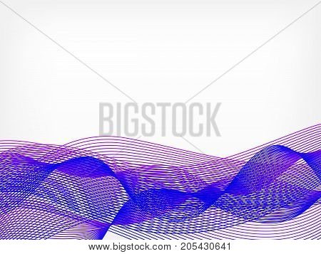 abstract vector waved line background - purple and violet